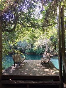A porch or other outdoor area at Hotel Santa Esmeralda