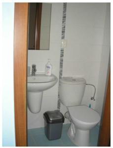 Koupelna v ubytování Vila Daiva