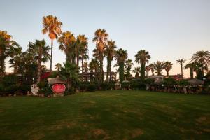 A garden outside Club Hotel Sera