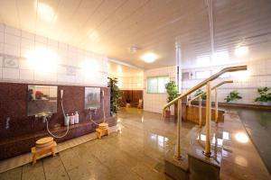 The lobby or reception area at Beppu Station Hotel