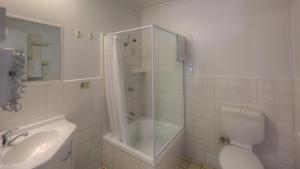 A bathroom at Cousins Motor Inn
