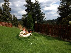 A garden outside Dafovska Hotel