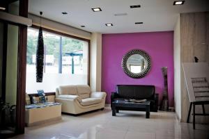 A seating area at Hotel Campos de Baeza