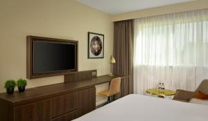 A television and/or entertainment center at DoubleTree by Hilton Sheffield Park