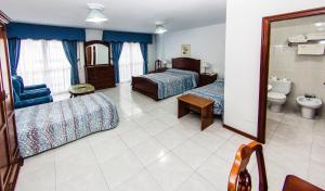 Zona de estar de Hotel Restaurante Xaneiro