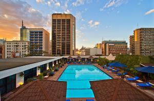 The swimming pool at or near Hilton Nairobi