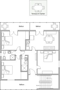The floor plan of Apartments Mandaric