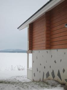 Salmon Holiday Village during the winter
