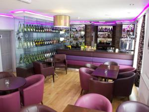 The lounge or bar area at Carriages Telford