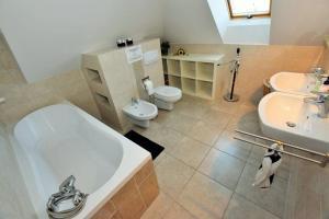 A bathroom at Dom wigierski 1