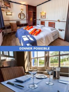 A restaurant or other place to eat at Boat Hotel De Barge