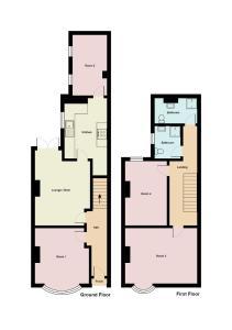 The floor plan of Townhouse @ 543 London Road Stoke