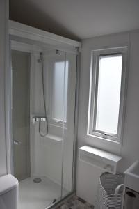 A bathroom at Camping des Alberes