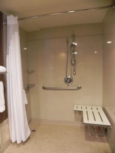 A bathroom at Sleep Inn & Suites BWI Airport