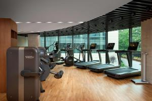 The fitness center and/or fitness facilities at Hyatt Regency Sofia
