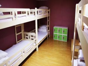 A bunk bed or bunk beds in a room at Jeju R Hotel & Guesthouse