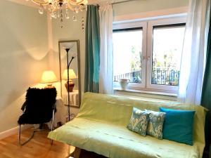 Ein Bett oder Betten in einem Zimmer der Unterkunft Ferienwohnung Eder