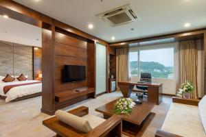 Khu vực ghế ngồi tại Lao Cai Star Hotel