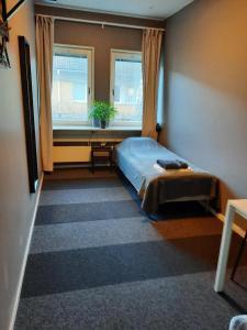 Vuode tai vuoteita majoituspaikassa Vandrarhem Uppsala - Portalgatan