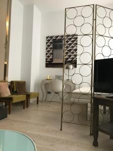 A television and/or entertainment centre at AB Design Suites