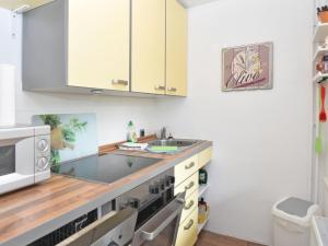 Küche/Küchenzeile in der Unterkunft Modern Holiday Home in Guntersberge with Fish Pond