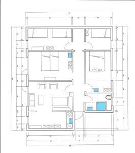 """Grundriss der Unterkunft apartment EFEU """"mit stil & tradition"""""""