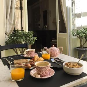 Breakfast options available to guests at Villa Victor Louis - Bordeaux Centre
