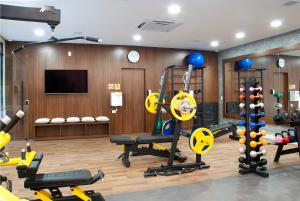 The fitness centre and/or fitness facilities at Exclusive Gramado by Gramado Parks