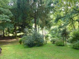 A garden outside Cozy Chalet in Bousseviller France with Private Sauna