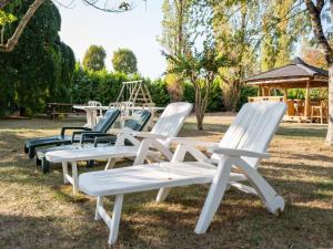 A garden outside Attractive Villa in Velines with Private Garden