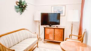 A television and/or entertainment centre at Smart Hotel KDO Novosibirsk