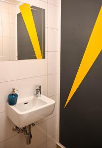 Koupelna v ubytování Backpacker Apartment Naschmarkt
