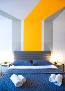Postel nebo postele na pokoji v ubytování Backpacker Apartment Naschmarkt