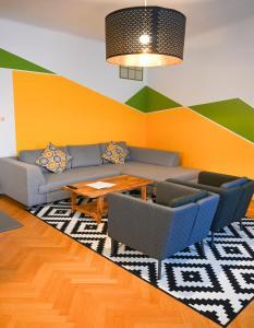 Posezení v ubytování Exclusive Apartment Schönbrunn