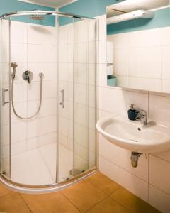 Koupelna v ubytování Elegant Apartment Naschmarkt