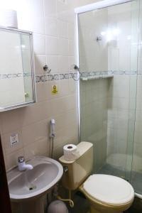 A bathroom at Pousada Do Suiá
