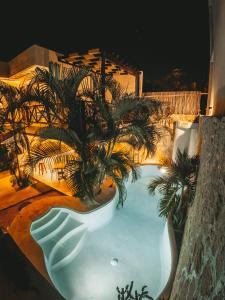 Vista sulla piscina di Pacha Tulum o su una piscina nei dintorni