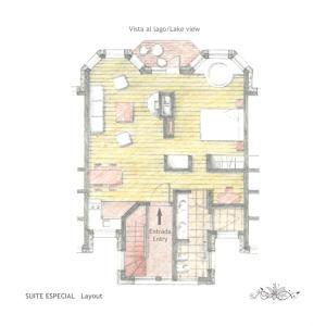 The floor plan of Lirolay Suites