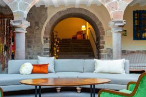 Coin salon dans l'établissement Novotel Cusco