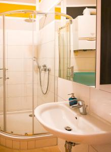 Koupelna v ubytování Backpacker Apartment Schönbrunn