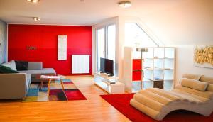 Posezení v ubytování Modern Duplex Museumsquartier