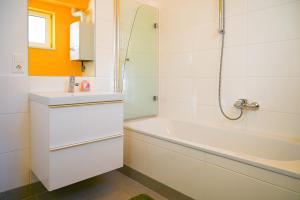 Koupelna v ubytování Modern Duplex Museumsquartier
