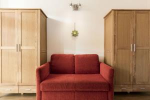 Ein Sitzbereich in der Unterkunft Zugspitzpanorama
