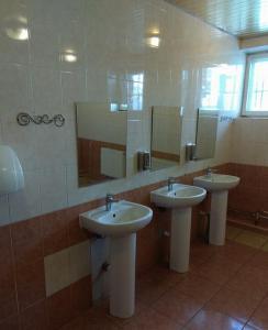 A bathroom at HotelHot Sheremetyevo