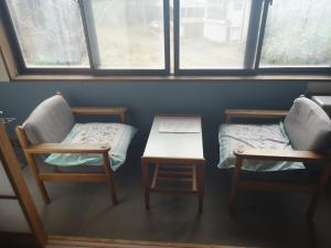 A seating area at Cafe Cerisier