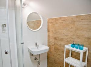 Kúpeľňa v ubytovaní Penzión pod Karpatmi