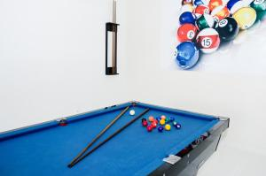 A billiards table at San Marino Cassino Hotel