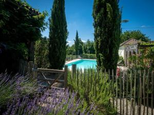 A view of the pool at Beautiful Farmhouse With Private Pool in Toujouse France or nearby