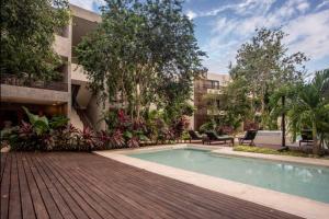 The swimming pool at or near Hotel Panacea Tulum