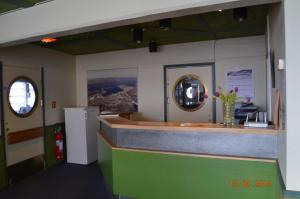 The lobby or reception area at Mehamn Arctic Hotel
